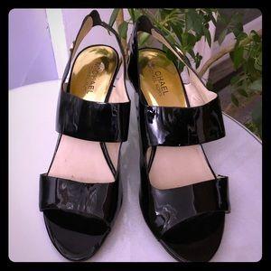 Michael Kors black patent leather heels